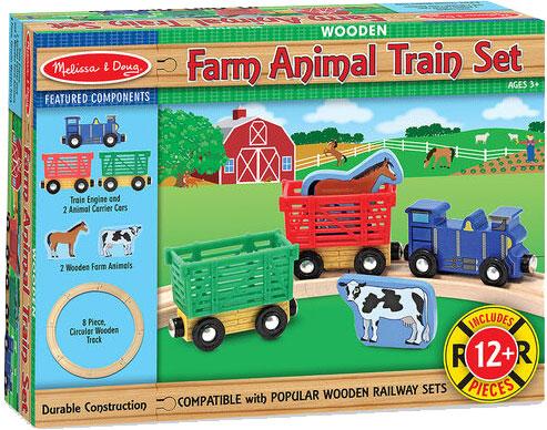 MELISSA & DOUG - Farm Animal Train Set