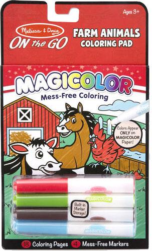 MELISSA & DOUG - Magicolor - On the Go - Farm Animals Coloring Pad