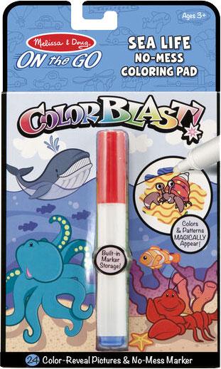 MELISSA & DOUG - On the Go ColorBlast No-Mess Coloring Pad - Sea Life