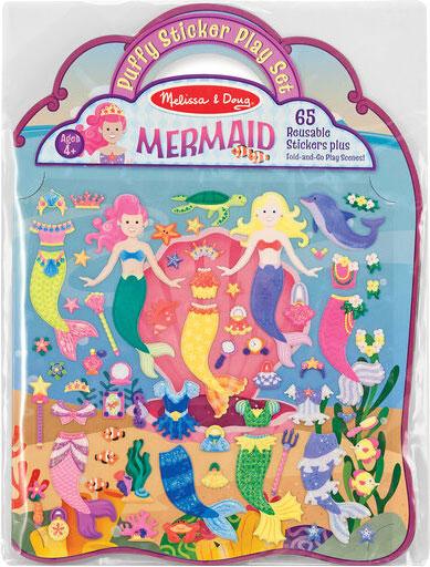 MELISSA & DOUG - Puffy Sticker Play Set, Mermaid