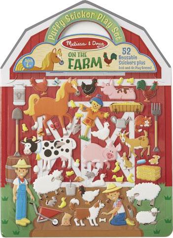 MELISSA & DOUG - Puffy Sticker Play Set - On the Farm