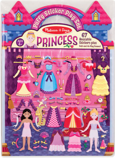 MELISSA & DOUG - Puffy Stickers Play Set, Princess