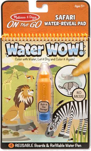 MELISSA & DOUG - Water Wow! - Safari Water Reveal Pad - ON the GO Travel Activity