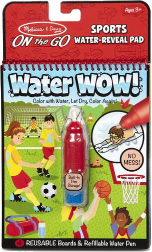 MELISSA & DOUG - Water Wow! - Sports Water Reveal Pad - ON the GO Travel Activity