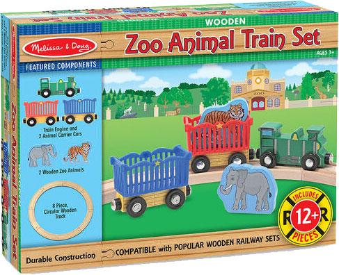 MELISSA & DOUG - Zoo Animal Train Set