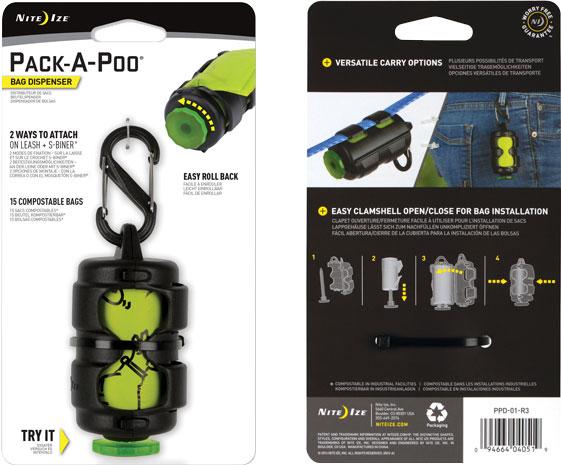 NITE IZE - Pack-A-Poo Bag Dispenser + Refill Roll