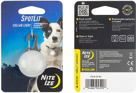 NITE IZE - SpotLit Collar Light - Red