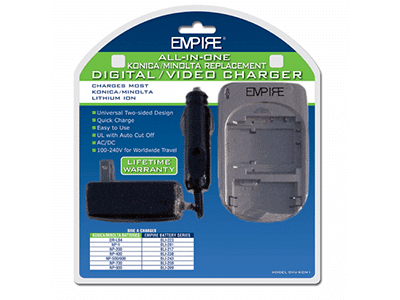 Empire DVU-KOM1 Konica, Minolta Video and Digital Camera Battery Charger