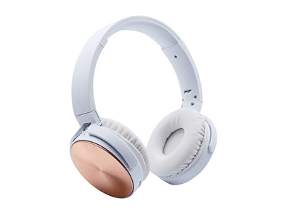Polaroid PBT207 On-Ear Wireless Bluetooth Headphones, Rose Gold
