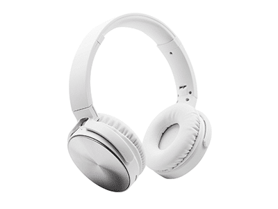 Polaroid PBT207 On-Ear Wireless Bluetooth Headphones, Silver