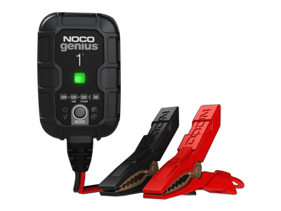 NOCO Genius1, 1-Amp Battery Charger, Battery Maintainer, and Battery Desulfator