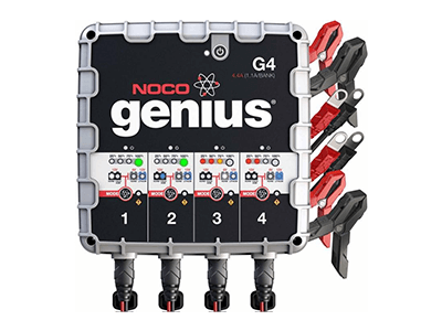 NOCO Geniuus, 4.4 Amp 4-Bank Battery Charger and Maintainer G4