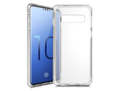 ITSKINS - Hybrid Clear Case for Samsung Galaxy S10 - Transparent