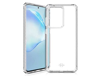 ITSKINS - Hybrid Clear Case for Samsung Galaxy S20 Ultra - Transparent
