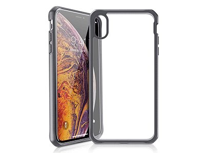 ITSKINS - Hybrid Frost MKII Case for Apple Xs Max - Black and Transparent