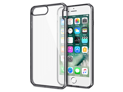 ITSKINS - Hybrid Frost MKII Case: iPhone 8+,7+,6s+, 6+ - Black & Transparent