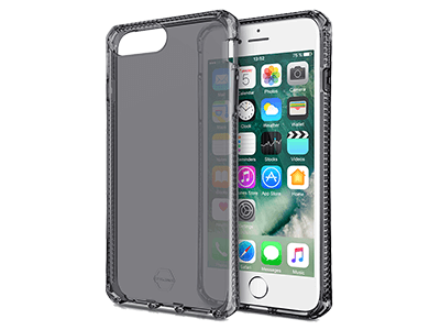 ITSKINS - Spectrum Clear Case for Apple iPhone 8+,7+, 6s+, 6+ - Black