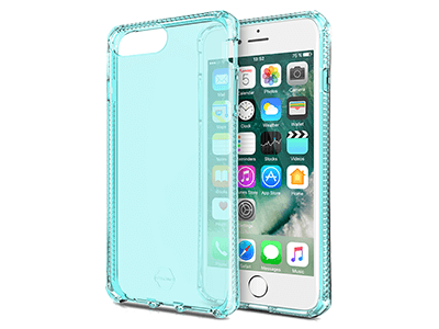 ITSKINS - Spectrum Clear Case for Apple iPhone 8+,7+, 6s+, 6+ - Light Blue