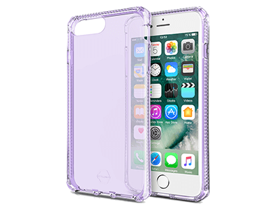 ITSKINS - Spectrum Clear Case for Apple iPhone 8+,7+, 6s+, 6+ - Light Purple