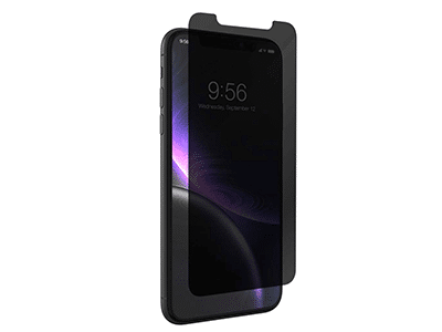 ZAGG - InvisibleShield Glass Plus Glass Screen Protector for Apple iPhone 11,XR - Privacy