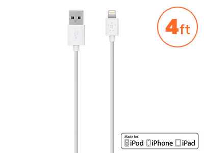 Belkin - Mixit Apple Lightning Cable 4ft - White