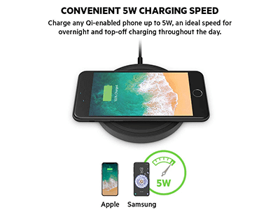 Belkin - Qi Wireless Charging Pad 5W - Black
