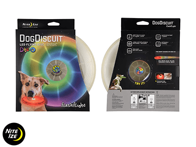 Nite Ize FLASHFLIGHT DOG DISCUIT LED FLYING DISC Disc-O