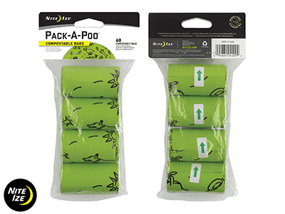Nite Ize PACK-A-POO Refill Bags - 4 Pack