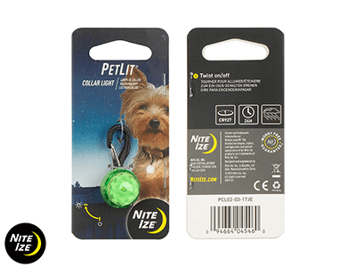 Nite Ize PETLIT COLLAR LIGHT -Lime