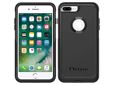 OtterBox - Commuter Case for Apple iPhone 8 Plus / 7 Plus - Black