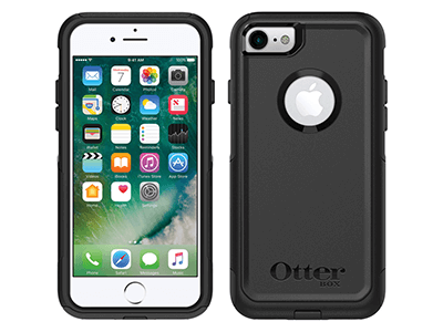 OtterBox - Commuter Case for Apple iPhone SE / 8 / 7 - Black
