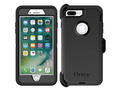 OtterBox - Defender Case for Apple iPhone 8 Plus / 7 Plus - Black