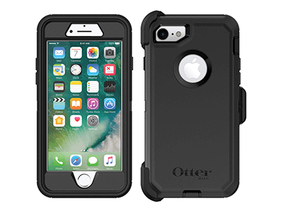 OtterBox - Defender Case for Apple iPhone SE / 8 / 7 - Black