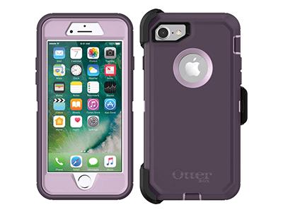 OtterBox - Defender Case for Apple iPhone SE / 8 / 7 - Purple Nebula
