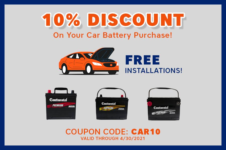 Battery Joe Car Battery Coupon, April 2021