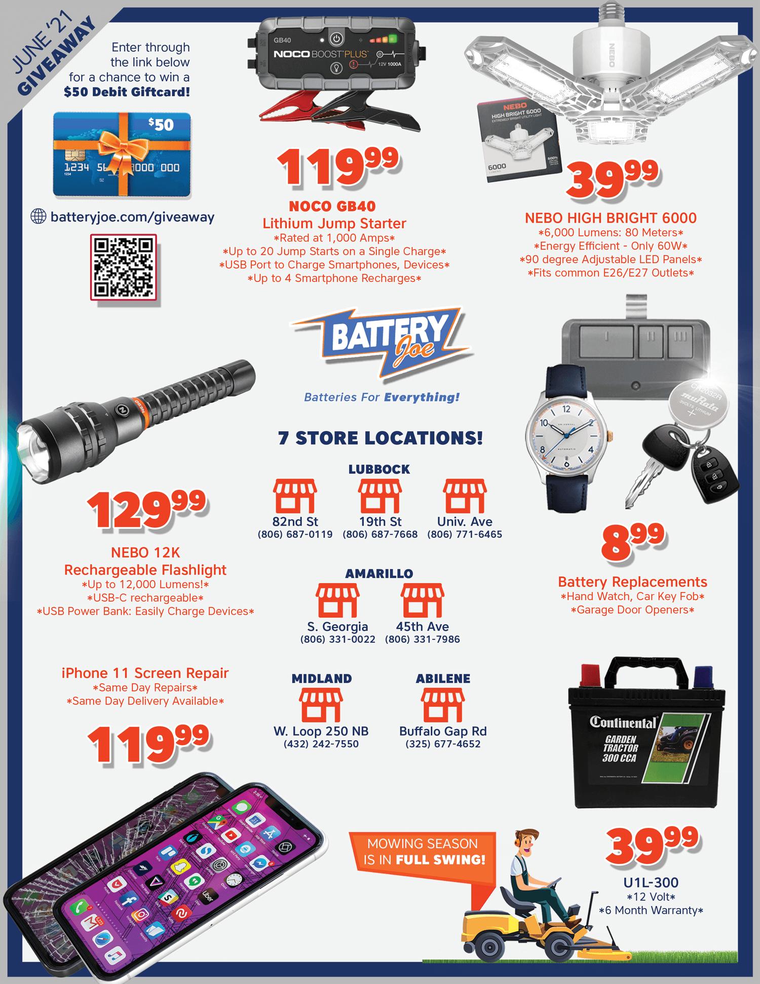 Battery Joe June 2021 Catalog Page 2