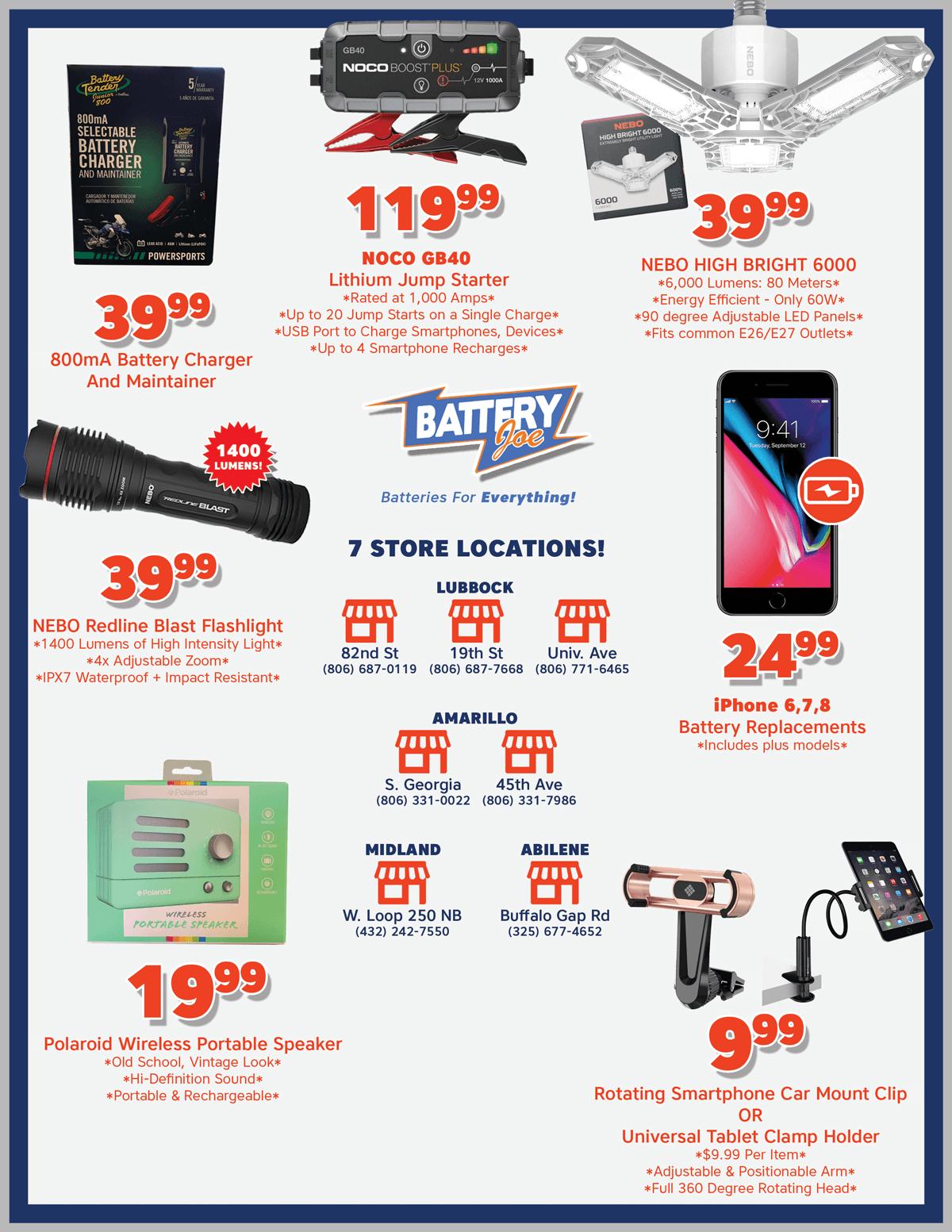 Battery Joe September 2021 Catalog Page 2